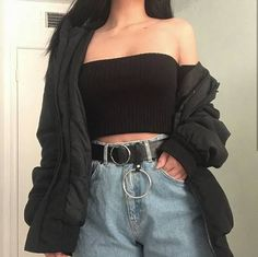 Edgy Outfits, Cute Casual Outfits, Mode Outfits, Korean Outfits, Retro Outfits, Girl Outfits, Fashion Outfits, Soft Grunge Outfits, Hipster Outfits