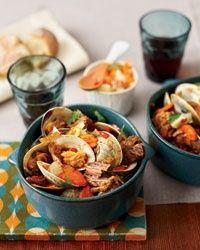 braised pork w clams :: portuguese stew food + wine nosh