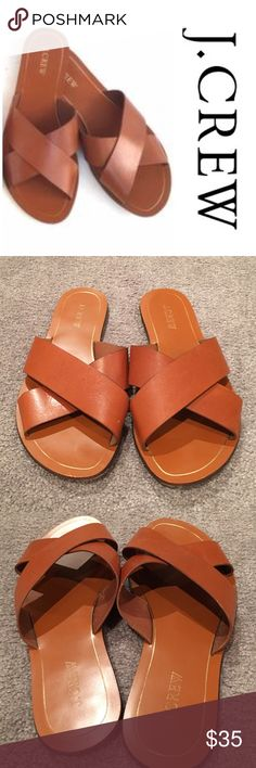 J.Crew Criss Cross Sandals Gently used Jcrew brown Criss cross sandals. Reasonable offers considered through offer button only J. Crew Shoes Sandals