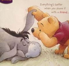 Pooh and Eeyore Cute Winnie The Pooh, Winne The Pooh, Winnie The Pooh Quotes, Winnie The Pooh Friends, Pooh Bear, Tigger, Eeyore Quotes, Disney Quotes, Disney Wallpaper