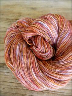 thrush  hand dyed yarn merino wool cashmere by pancakeandlulu, $20.00