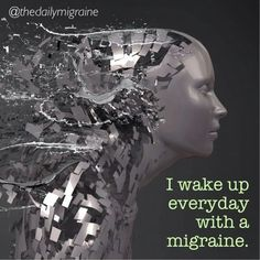 I wake up everyday with a migraine. #thedailymigraine #migraine #chronicmigraines #chronicillness #chronicpain #invisibleillness #spoonie #spooniestrong
