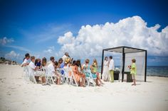 White sand beach and Caribbean Blue skies mixed with Moon Palace = Perfect wedding day! #lizmooreweddingscancun
