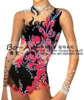 Boart hete verkoop leotard gymnastiek jurk mooie wedstrijd aanpassen g2009