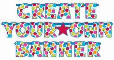 Cabana Dot Create-Your-Own-Banner Kit