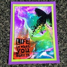 Visible Image stamps - Life Is What You Make It - Inky Butterfly - Sue Joseph