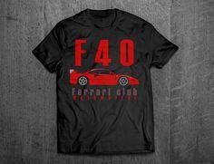 Ferrari shirts, Ferrari F40, Ferrari t shirts, Cars t shirts, men tshirts, women t shirts, muscle car shirts, bikes shirts, Enzo shirts by MotoMotiveInk on Etsy