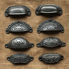 Antique Style Cast Iron Cup Handle Choice Of Design. This item is made from cast iron in a natural rustic finish untreated. Square Cup Handle Wide x High. Plain Cup Handle Wide x High. Kitchen Cupboard Door Handles, Kitchen Drawer Pulls, Kitchen Cupboards, Kitchen Doors, Cabinet Cup Pulls, Cabinet Knobs, Cabinet Hardware, Antique Cupboard, Antique Drawer Pulls
