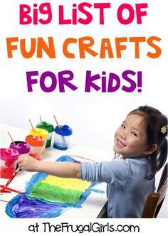 Top Kids Crafts via @Heidi at The Frugal Girls | Find summer craft inspiration