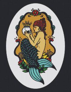 Modern Cross Stitch Kit 'Sephina's Secret ' By Illustrated Ink - Tattoo Art on Etsy, $81.01 AUD