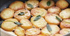 La+ricetta+delle+patate+in+padella+con+burro+e+salvia