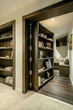 Practically divide your room with this dual function door. A door and shelve in one