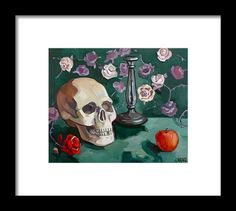 Still Life Framed Print featuring the painting Still Life by Carmen Stanescu Kutzelnig Painting Still Life, Framed Prints, Art Prints, Great Artists, Greeting Cards, Tapestry, Poster, Design, Art Impressions