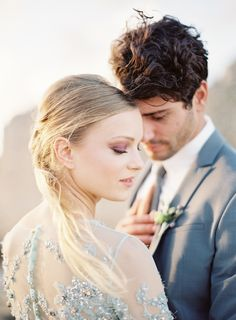 Destination Wedding in Greece // Wedding Inspiration // Bride & Groom Portrait by Jessica Lyons Photography // Contax 645 + Fuji 400h + Richard Photo Lab