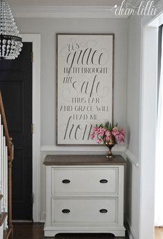 'Tis Grace Handmade Oversized Wood Sign   Dear Lillie
