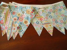 Bunting banner. I want to make a number line for my classroom like this.