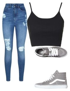 """Untitled #68"" by kiernamalonex on Polyvore featuring Lipsy, Topshop and Vans"