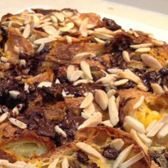 Chocolate and Croissant Pudding: Rich and delicious bread and butter pudding made with croissants! Chocolate Croissant, Bread And Butter Pudding, Croissants, Toolbox, Afternoon Tea, Chefs, Food Inspiration, Baked Goods, Cupcake