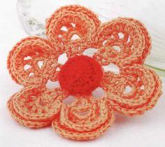 como ya aprendimos los puntosbásicosen el tejido a crochet ahora haremos unas lindas flores    esta es una flor o rosa tejoda     una flo...