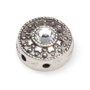 ConsumerCrafts Product SWAROVSKI® ELEMENTS Rhinestone Slider Beads-Round-Silver/Crystal