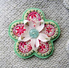 Pale green flower brooch by buttercup boutique, via Flickr