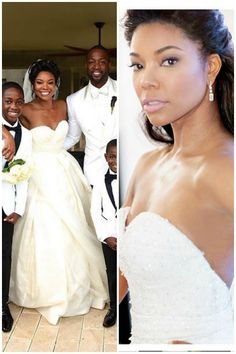 gabrielle union wedding dresses