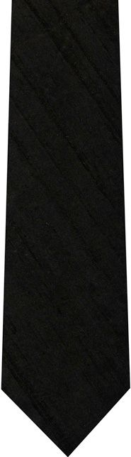 Black Thai Rough Silk Tie #10