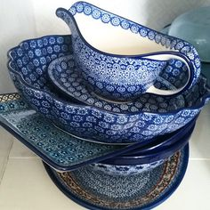 Bunzlau Castle || Collectors #Polishpottery #pottery #tableware #home #bunzlau #BunzlauCastle #Stoneware #Bluekitchen #polishblue #Bunzlauservies #kitchen #textile #coffee #tea #teatime #dinner #blue Blue, Blue - we love it at @livetpaannehem ☺ #bunzlaucastle #countrylife #kitchen #interior #inspiration #colour #interior4all #interior123 #interiortoyou #interior444 #formex #ceramics #trendy #blue #pattern #boho #bohochic #home #handmade #scandinavia #formex2015 #cooking #dinner