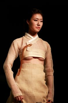 c%rry — lee young hee contemporary banana fiber nursing. Korean Traditional Dress, Traditional Dresses, Fashion Models, Girl Fashion, Fashion Outfits, Dress Fashion, Mode Kimono, Modern Hanbok, Lee Young