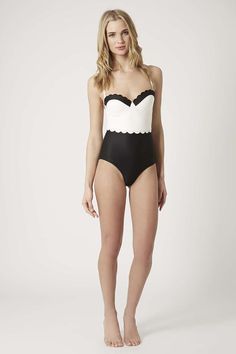 The Topshop Double Scallop Swimsuit {so classy!}
