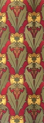 Joplin Tulip - Historic Wallpapers - Arts and Crafts - Aesthetic Movement, late 19th century