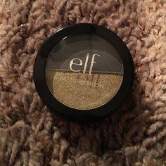 Elf Eyeshadow Duo Never used before gray/gold shimmer Makeup Eyeshadow