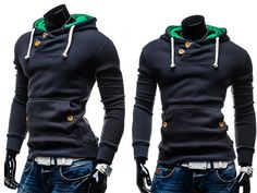 Double Button Hoodie A good hoodie should be part of every man's wardrobe especially during the spring and autumn period. Hoodies are very useful not only