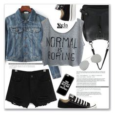 """""""Normal Is Boring - SheIn"""" by amra-mak ❤ liked on Polyvore featuring Converse, Acne Studios, Casetify and shein"""