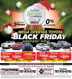 Anuncio Black Friday Tocars/Procas Toyota
