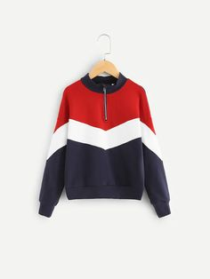 Shop Girls Cut and Sew Zip Half Placket Sweatshirt online. SHEIN offers Girls Cut and Sew Zip Half Placket Sweatshirt & more to fit your fashionable needs. Girls Cuts, Girl Outfits, Cute Outfits, Sweaters And Jeans, Plus Size Blouses, Girls Shopping, Hoodies, Sweatshirts, Outfit