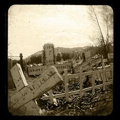 Pet cemetery in Salida,CO. ttv by the dirty duaflex ll.  view my images on: B l a c k M a g i c     )):