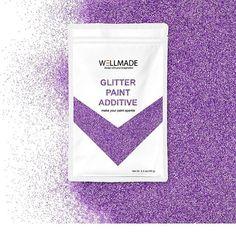 Purple glitter paint additive #wellmadeglitter #purpleglitter #purplepaint #purplewall @wellmadestudios Glitter Paint Additive, Purple Walls, Purple Glitter, Studios, Make It Yourself, Painting, Instagram, Painting Art, Paintings