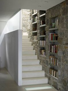 Modern Cycladic staircase