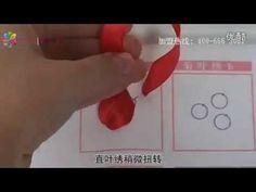 リボン刺繍つくり方講座26/41【A菊花繍a】ケイトリリアン刺繍館 - YouTube