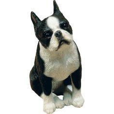 Sandicast Mid Size Sculptures Boston Terrier Figurine