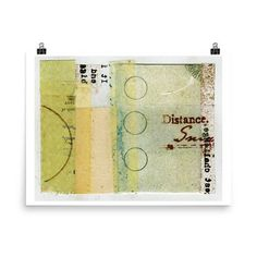 Distance Art Print of an original collage #collage #art #artist #paper #typography #collageart #papercollage #artwork