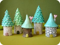 TREE HOUSES #ceramics #lessonIdea #architecture. So cute, I want to make some. Link is a bust though, only links to blog, not the post