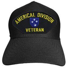 AMERICAL DIVISION VETERAN Baseball Cap - Meach's Military Memorabilia & More