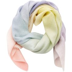 Pashmina Cashmere Scarf | Moda Operandi (14 240 UAH) ❤ liked on Polyvore featuring accessories, scarves, cashmere scarves, cashmere shawls and pastel scarves