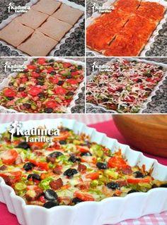 Tost Ekmeğinden Pratik Pizza Tarifi