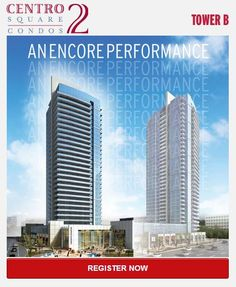 HIGHWAY 7 & WESTON ROAD  Centro Square Condos Phase 2 is a new condo project by Liberty Development Corporation currently in preconstruction at Weston Road & Northview Boulevard in Vaughan.  Total of 281 units.  Salesstart in the mid $200,000's.