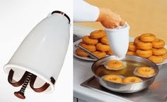 It s so easy to makes professional looking donuts Just 3 simple steps. Mix the batter just like pancakes.Hold the dispenser over the hot oil and sq… How To Make Pancakes, Pancakes And Waffles, Making Pancakes, Ramadan Celebration, Donut Maker, Baking Items, Buy Electronics, Kitchen Tools, Dog Bowls