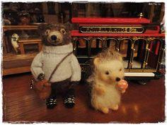 My bear and my hedgehog by Feltro em Casa