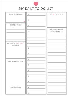Daily to do list / Hourly format / A5 / Printable planner {on Etsy}